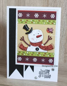 Handmade Christmas Card made with Hunkydory The Little Book of Cute Christmas Christmas Cards To Make, Handmade Christmas, Hunky Dory, Little Books, Snowmen, Handmade Cards, Card Ideas, Stamps, Projects To Try