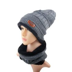 2 pcs Unisex Beanie Hats Women Men Winter Warm Knitted Hat Cap Skullie – OSKIES EXPRESS