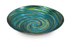 Perfect as an entryway catch-all or holding fragrant potpourri, this striking glass bowl features a captivating swirl motif. Product: Bowl Construction Material: Glass Color: Blue and green Features: Swirl motif Dimensions: H x Diameter Mykonos, Glass Serving Bowls, Glass Dishes, Serving Dishes, Safe Glass, Blue Vans, Plates And Bowls, Glass Collection, Coastal Decor