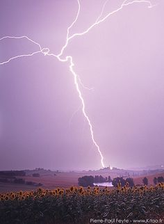 Lightning strike close to the little village of Blaziert in Gascony, SW France by Pierre-Paul Feyte, via Flickr