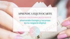 Equivócate rápido y de forma inteligente al emprender tu negocio digital Place Cards, Place Card Holders, Ideas, Learning, Creativity, Printable Planner, Time Management, Going Out, Innovative Products