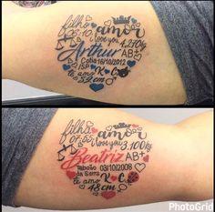Likes, 104 Kommentare - Studio 83 SP 🇧🇷 # (@ auf In . - u - Tattoo Mom Baby Tattoo, Tattoo For Son, Tattoos For Kids, Tattoos For Daughters, Family Tattoos, Mom Tattoos, Future Tattoos, Body Art Tattoos, Tattoo Kind