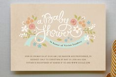 Rustic Ribbons and Flora by Jennifer Wick at minted.com. This to me is very Berkeley