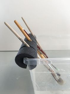 Art room brush holder
