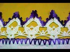 Barrado em crochê borboletas - CROCHÊ 38 - PASSO A PASSO - YouTube