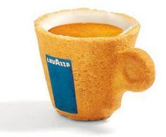 Tasse Biscuit Lavazza en France : le contenant comestible !