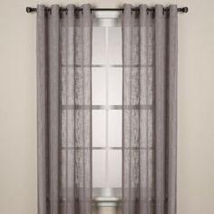 Alton Solid Grommet Window Curtain Panel - BedBathandBeyond.com