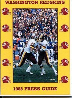1985 Washington Redskins Media Guide