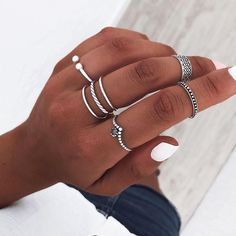Cute Jewelry, Jewelry Accessories, Grunge Jewelry, Nail Ring, Jewerly, Piercings, Silver Rings, Nail Art, Bling