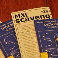 Ikea Scavenger Hunt Birthday Party (Grown Up Party) Sounds Fun...as long as you don't get kicked out!