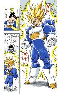 Goku powers up to super saiyan grade 3