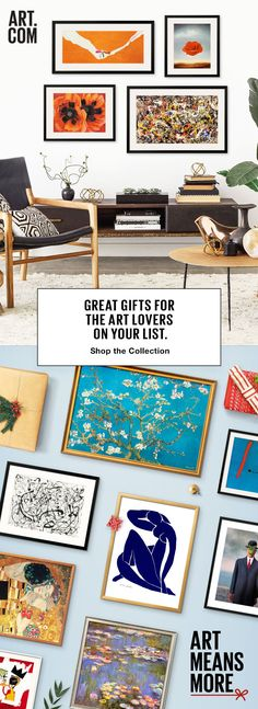 45% Off Ready to Hang Art! A gift of art just means something more. From Museum Masters to pop art and everything in-between, we�ve got the perfect gifts for the art lovers on your Holiday gift list. We make it easy to give something more to the ones who mean the most. �