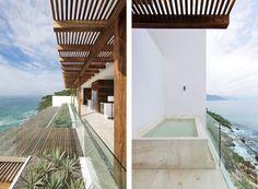 bathtub with ocean view