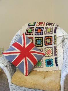 My wool felt Union Jack pillow is complete