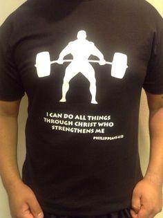 Religious TShirt Gym Shirt Men Shirt TShirt by elsol19 on Etsy, $22.99