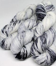 Hand Dyed Sock Yarn - SW Sock 80/20 - Superwash Merino Nylon - 400 yards - Newsprint