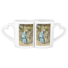 Raising of Lazarus after Rembrandt by Van Gogh Lovers Mug Set
