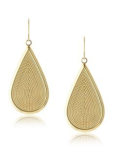 Janna Conner Teardrop Earrings Lightweight drop design with a beaded texture and polished edge Dimensions: height width Metal type: Gold-Plated Brass Backfinding: Fish Hook Drops Design, Fish Hook, Teardrop Earrings, Types Of Metal, Jewelry Box, Bling, Texture, My Style, Gold