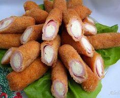 Aleda cuisine: stuffed with ham and cheese Meat Recipes, Cooking Recipes, Brunch Party, Bratwurst, Ham And Cheese, Bread Crumbs, Pretzel Bites, Amazing Cakes, Finger Foods