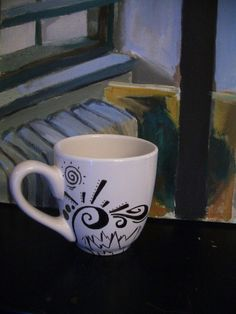 Mug Urban Antix Mug  Extra large  19 0z 2 sided hand by UrbanAntix, $9.95