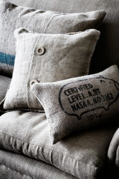 Love the idea of recycling hessian bags in to cushion covers, but wouldn't they be scratchy?