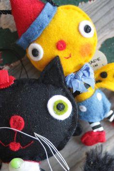 critters from Jody Battaglia's Funtown at Earth Angels Studios...