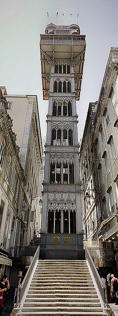 Elevador da St.Justa Lisbon, PORTUGAL (designed by Gustave Eiffel) actually by his student....