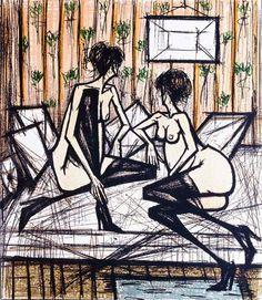 Bernard Buffet. Variation sur Jeux de dames, poèmes de Baudelaire, Rimbaud et Verlaine, 1970