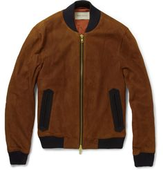 Oliver Spencer - Suede Bomber Jacket | MR PORTER