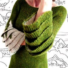 Those are some pretty awesome sleeves. But... I think I'd want a softer yarn! Icelandic Lopi, really?