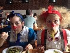 """Finally got our Italian food Eat You Out, Female Clown, Sister Love, Clowns, Italian Recipes, Heart, Books, Libros, Book"