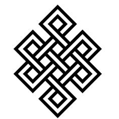 Buddhist endless knot. Symbolises endless compassion and wisdom. The idea of this is beautiful and I personally want it somewhere on my body. A simple tattoo.