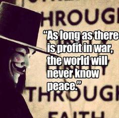 Profit over people equals death and destruction.
