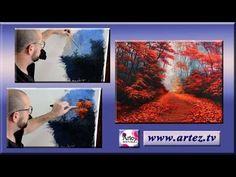 Como pintar follaje con acrílico