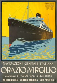 Navigazione Generale Italiana Orazio e Virgilio by Boris | International Poster Gallery