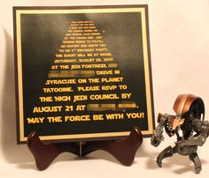 Star Wars Party Invitation - just thought of my sis and her boyfriend lol!!