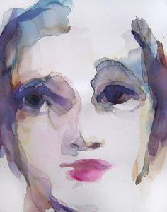 "Saatchi Online Artist: Sylvia Baldeva; Watercolor, 2012, Painting ""Melancholy"""