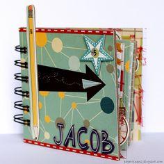 Boys Mini album with Cosmo Cricket - http://papervinenz.blogspot.com/2012/01/5th-birthday-mini-album-with-cosmo.html