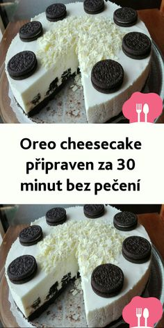 Oreo Cheesecake, Czech Recipes, Cheesecakes, Baking Recipes, Cereal, Food And Drink, Pudding, Cupcakes, Breakfast