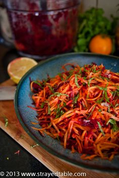 Super simple and easy salad recipe that will add plenty of colour to your table. This beetroot carrot salad will surprise all by its earthy sweet flavour.