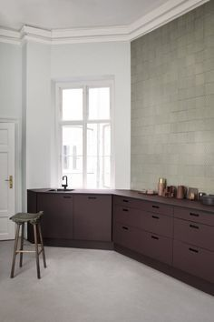 andshufl Burgundy Kitchen Kitchen, ideas, diy, house, indoor, organization, home, design, cook, shelving, backsplash, oven, desk, decorating, bar, storage, table, interior, modern, life hack.