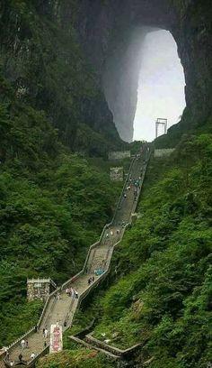 Tianmen Cina: porta del paradiso.