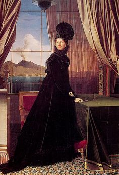 1814 Queen Caroline Murat byJean-Auguste-Dominique Ingres (private collection)