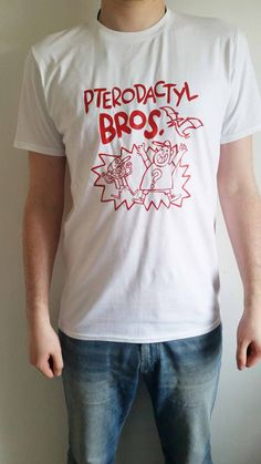 Gravity Falls Pterodactyl Bros. men's T-shirt (as made by Soos) by CuriositeesUK on Etsy https://www.etsy.com/listing/279554956/gravity-falls-pterodactyl-bros-mens-t