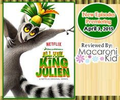 """""""ALL HAIL KING JULIEN"""" NEW EPISODES AVAILABLE APRIL 3 @DWAnimation #KingJulien #AD http://camarillo.macaronikid.com/article/939290/all-hail-king-julien-new-episodes-available-april-3"""