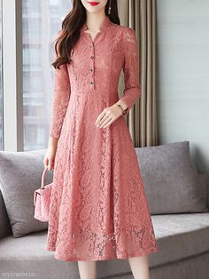 Buy V Neck Single Breasted Lace Plain Maxi Dress online with cheap prices and discover fashion Maxi Dresses at Fashionmia.com.