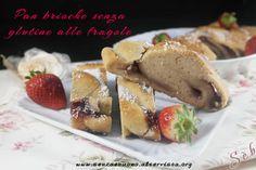 Panbrioche alle fragole a lievitazione naturale (con LM) con ricotta di mandorle #senzaglutine #vegan http://senzaebuono.altervista.org/pan-brioche-alle-fragole-vegan-senza-glutine/