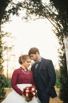 Southern Christmas Tree Farm Wedding Inspiration|Photographer: JoPhoto