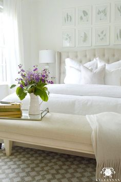 Light and bright master bedroom