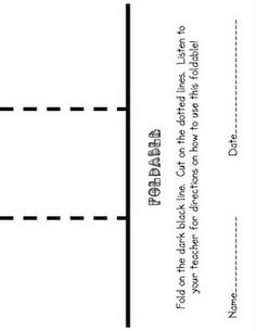 Foldables (use as an example so plain paper can be used)